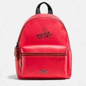 Coach Disney mini Charlie backpack with Mickey
